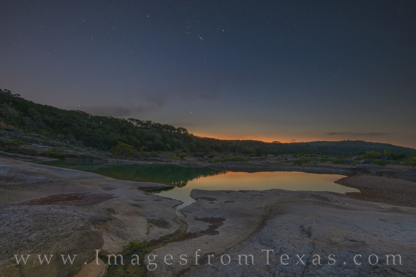 pedernales river, pedernales falls state park, sunrise, stars, morning, texas hill country, water, river, orion, photo