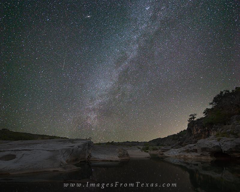 pedernales falls state park,pedernales falls,milky way,texas hill country,andromeda galaxy, photo
