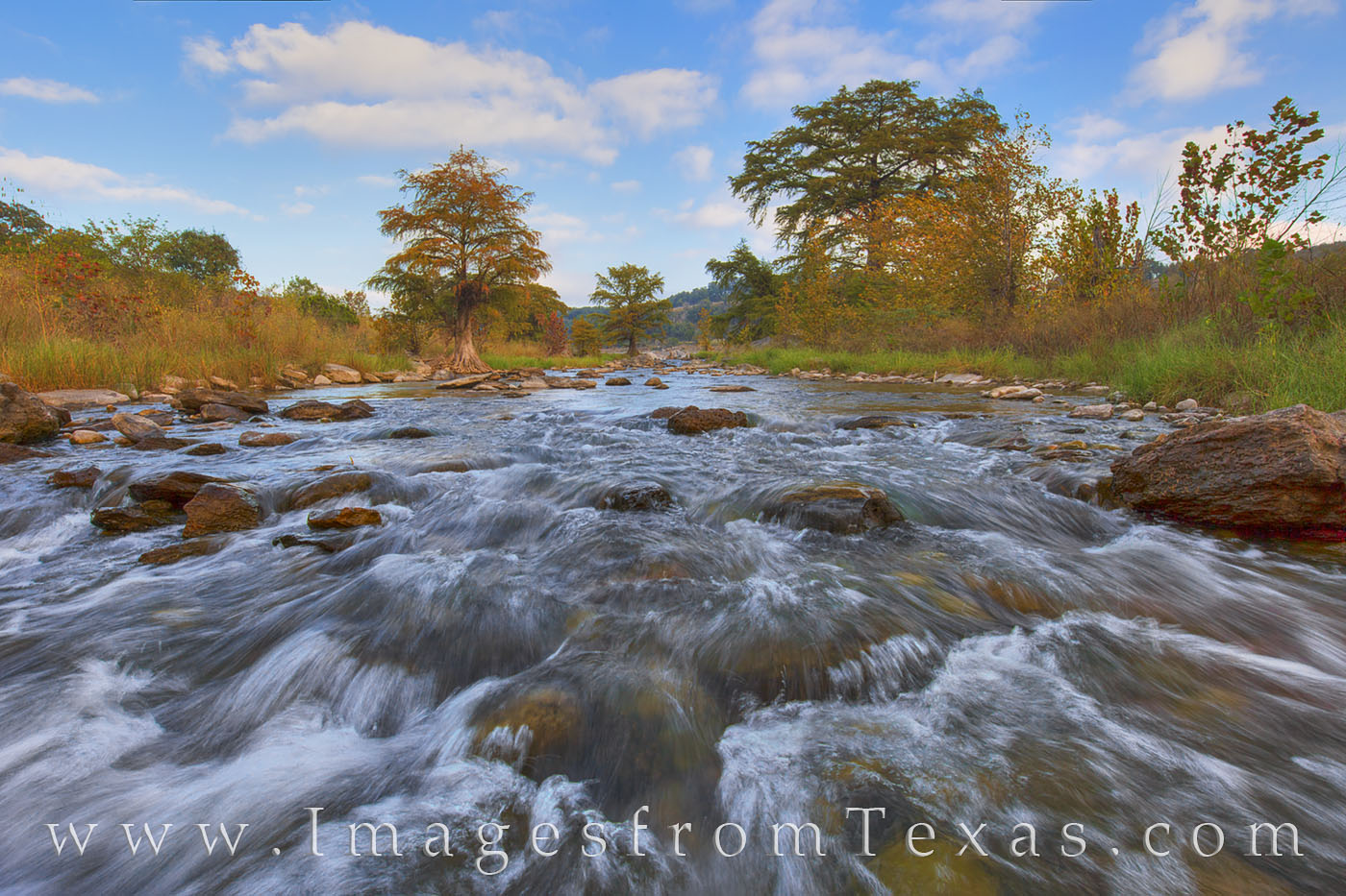 pedernales river, texas hill country, texas state parks, pedernales, cypress, landscapes, morning clouds, morning, texas hiking, photo