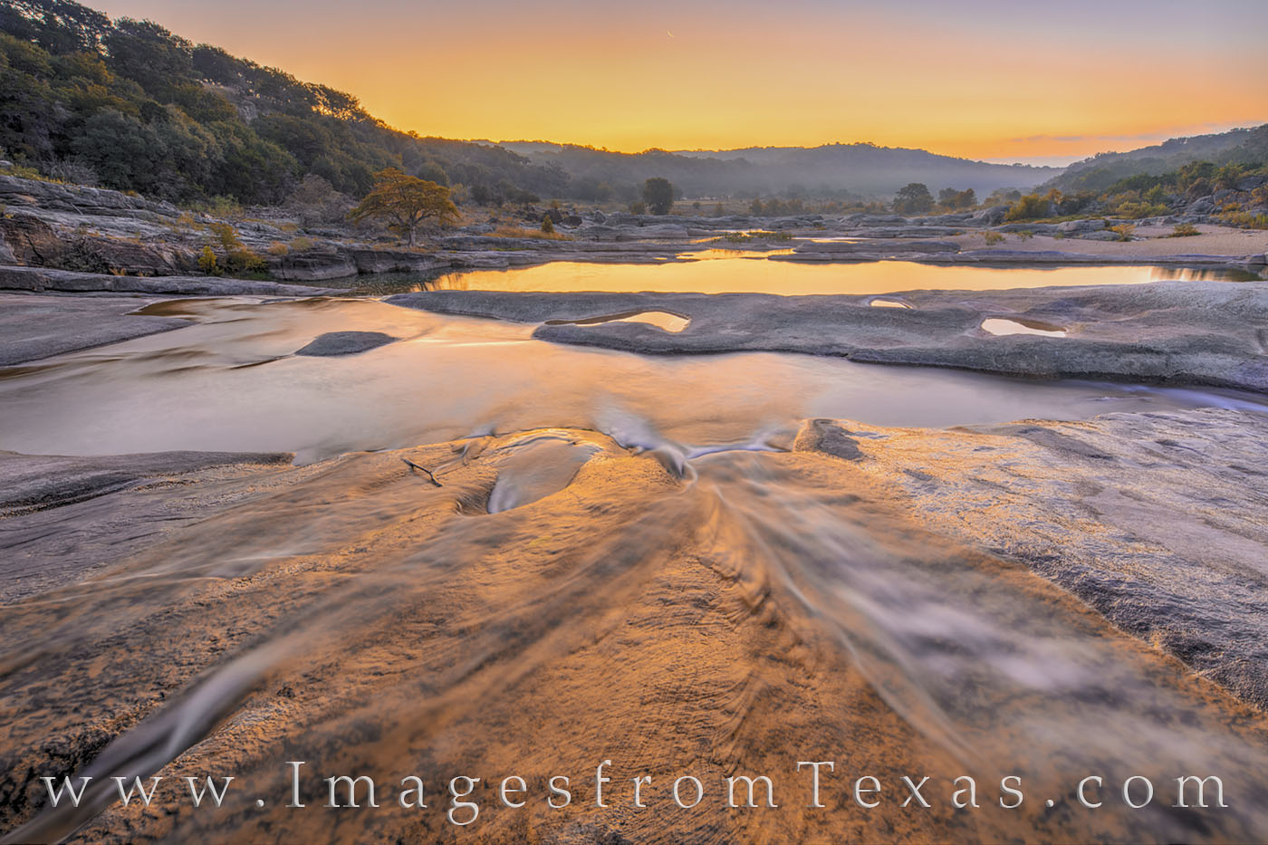 pedernales falls, pedernales river, texas hill country, texas state parks, sunrise, texas parks, tpwd, landscapes, morning, moonrise, moon, photo