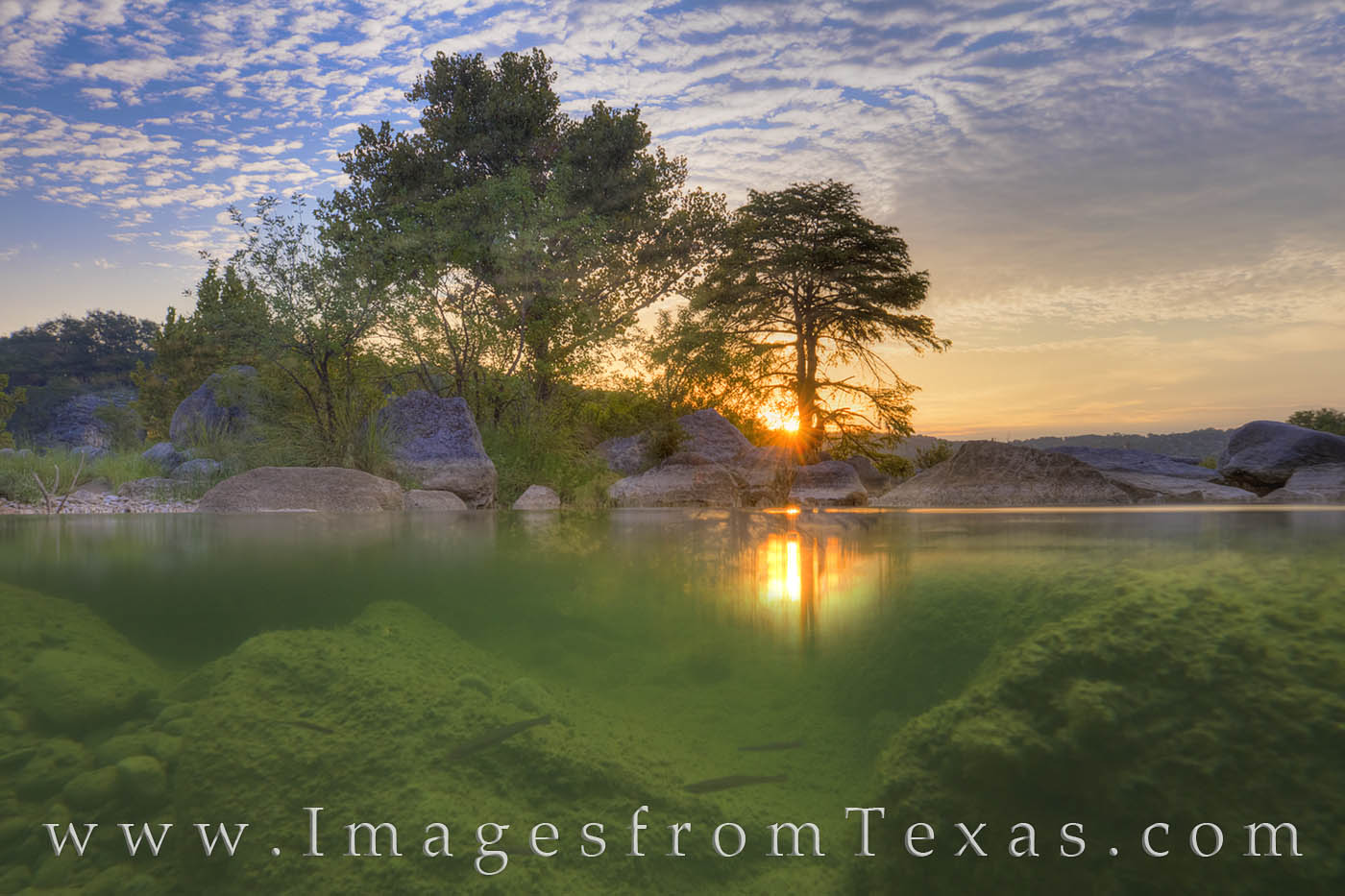 Pedernales River, Texas Hill Country, hill country, pedernales falls, fish, underwater, underwater photography, sunrise, texas sunrise, september, october, photo