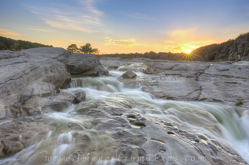 texas sunset,pedernales falls state park,texas hill country images,texas hill country prints,pedernales river,texas river images, photo
