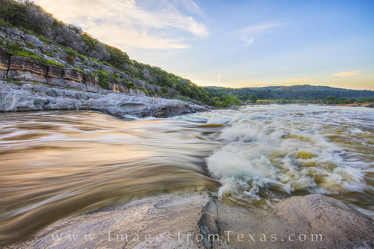 texas hill country, pedernales rapids, pedernales river rapids, texas sunrise, photo