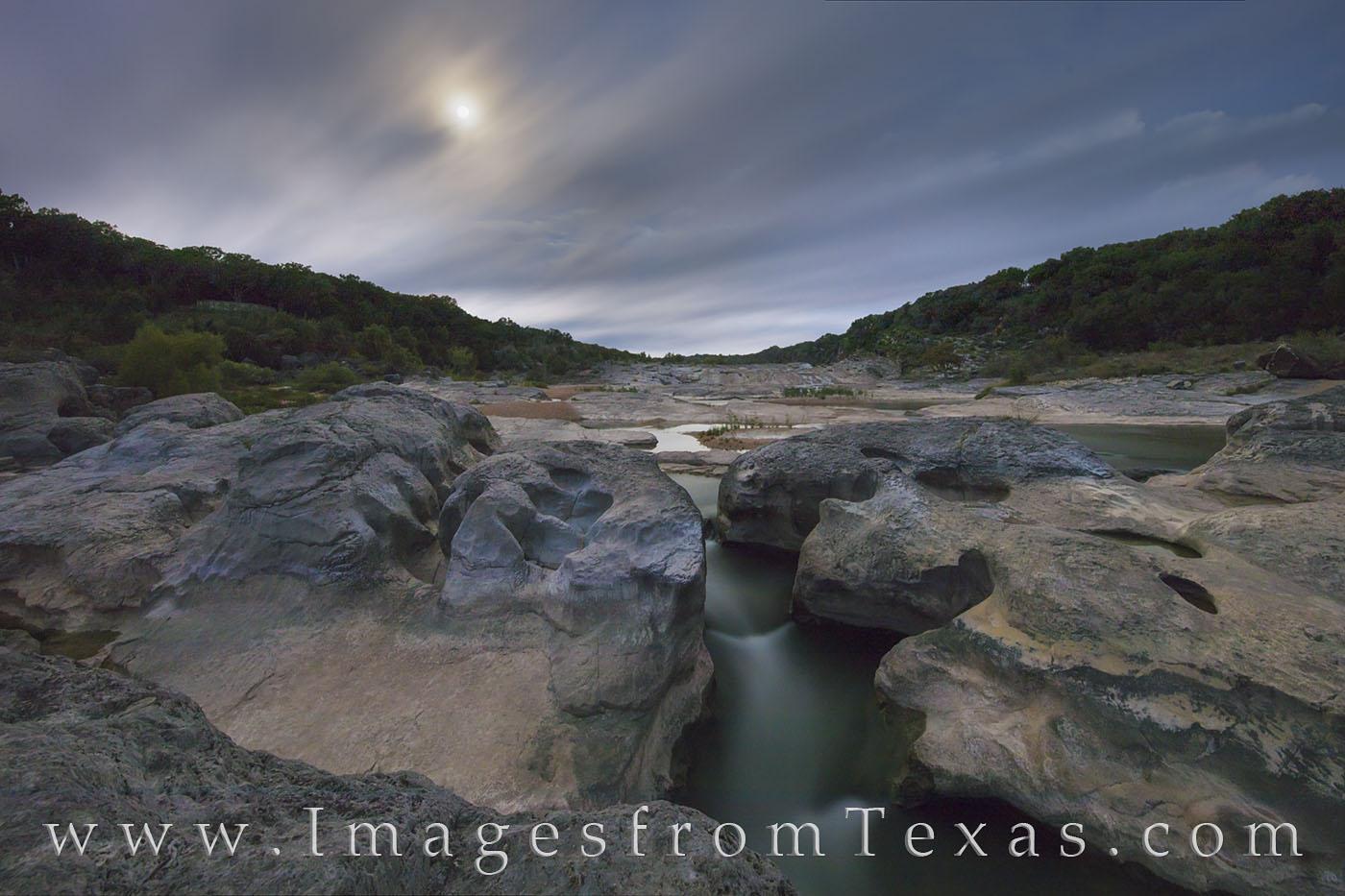 Pedernales River, moon, landscapes, moonset, hill country, texas hill country, texas landscape, photo