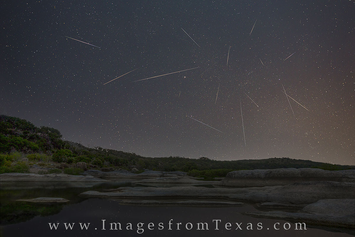 Texas Hill Country Images, Texas Hill Country, Texas images, texas prints, texas hill country photography, texas landscapes, texas nightscapes, nightime photography, perseids, perseid images, perseid , photo