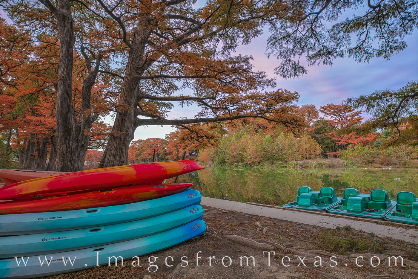 fall, autumn, garner state park, canoes, cypress, frio river, hill country, november, evening, photo