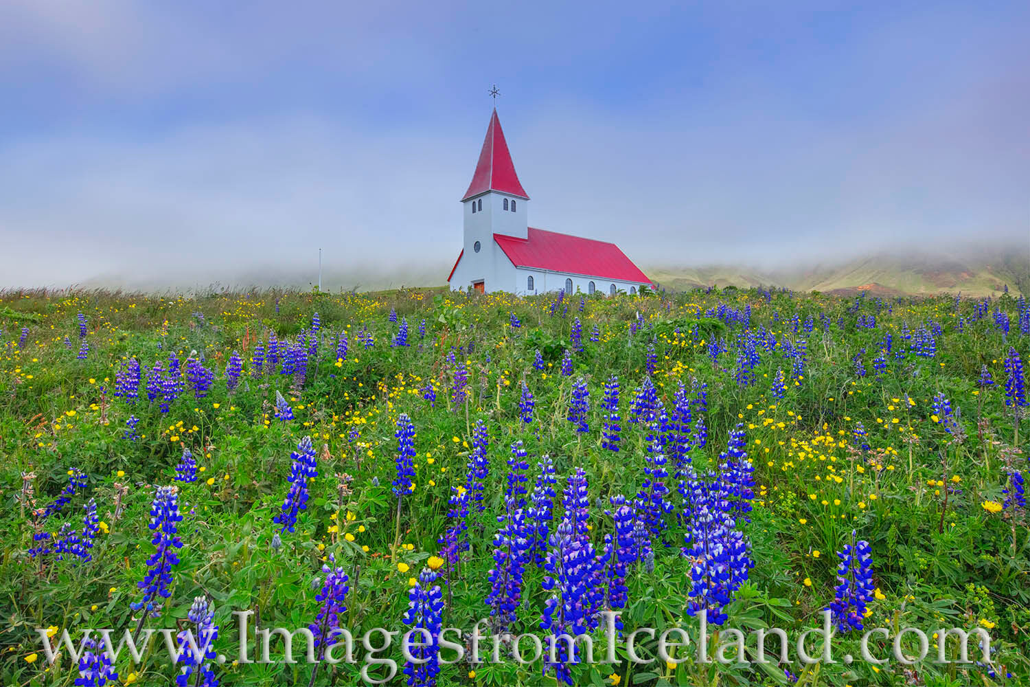Built in 1929, Reyniskirkja is a little church that sits on a hill overlooking the small village of Vik. In the distance are...