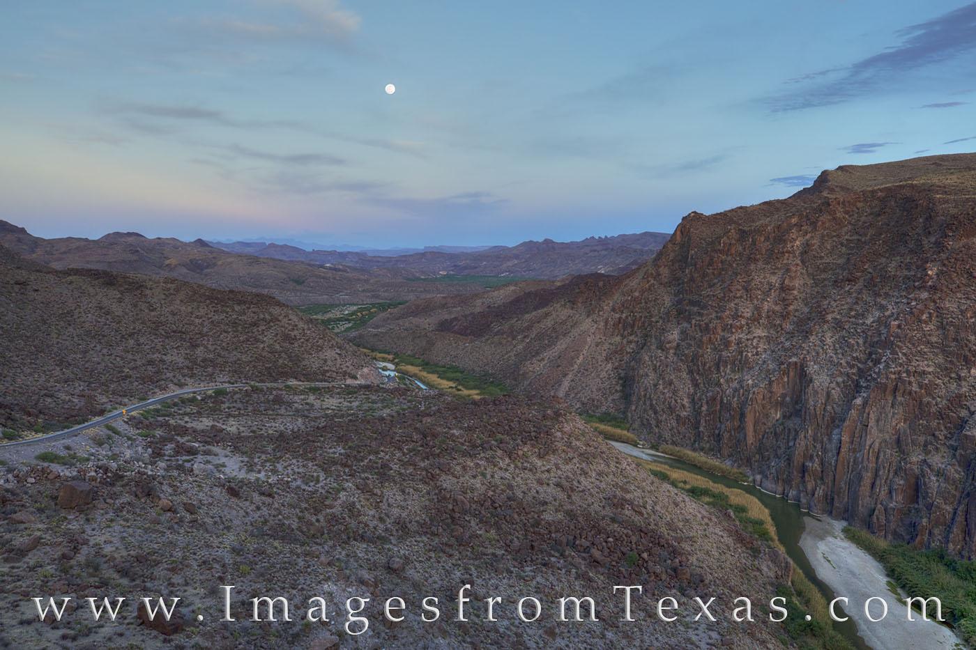 big bend ranch state park, moonrise, rio grande, dom hill, big hill, texas border, texas landscapes, big bend, FM 170, lajitas, photo