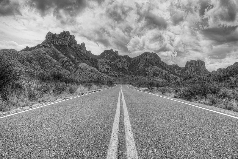 Big Bend National Park,black and white,Chisos Mountains,Texas landscapes,storms, photo