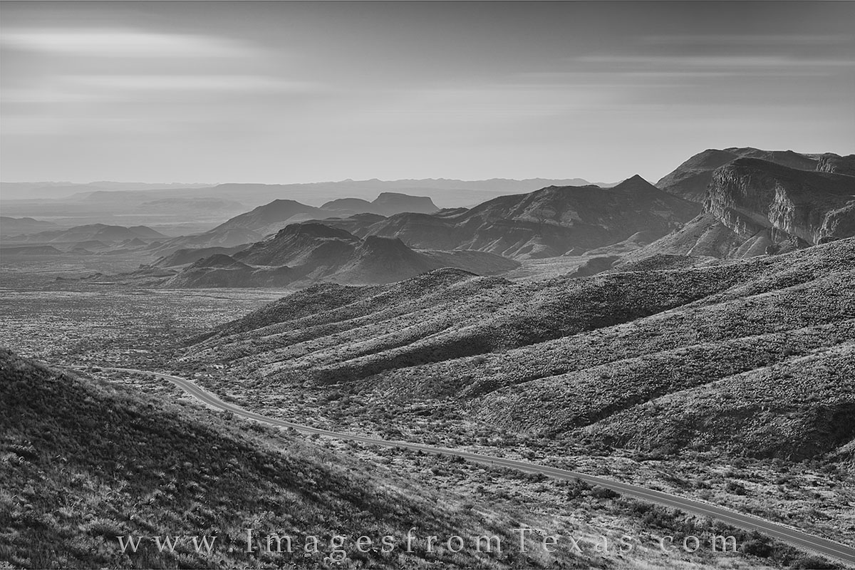 black and white, big bend national park, ross maxwell, ross maxwell scenic drive, chisos mountains, chihuahuan desert, texas drives, great texas drives, texas landscapes, photo
