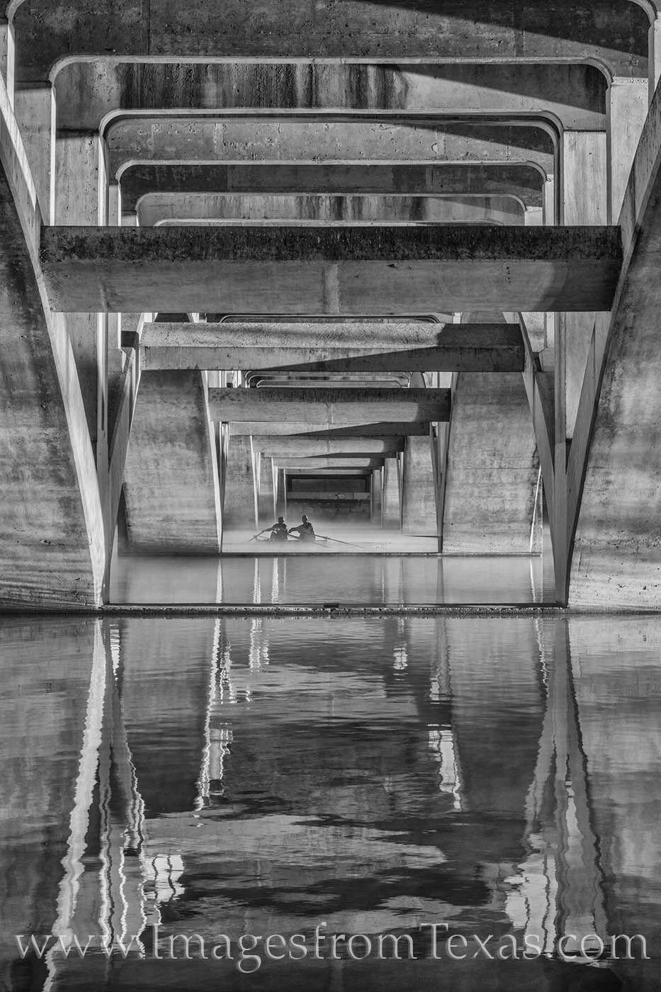 austin texas,lady bird lake,black and white,sculling,scullers,rowers,austin texas images,austin photos, photo