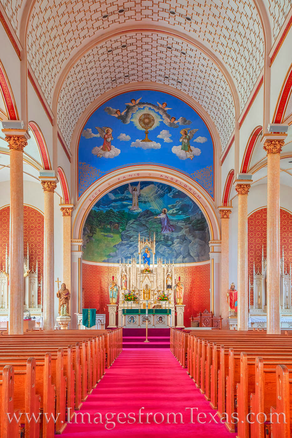 As one of the highlights of Saint Cyrl and Methodius Catholic Church in Shiner, Texas, the mural featuring the Garden of Gethsemane...