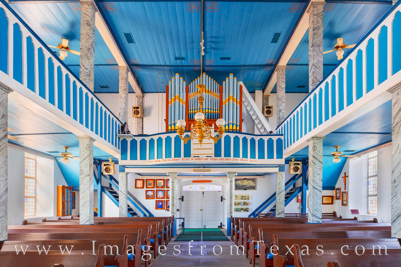This is St. Paul Lutheran Church from the lower floor near the alter. As one of the Painted Churches of Texas, the original structure...