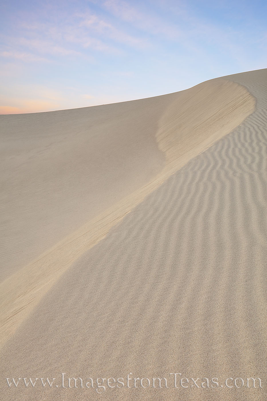sandhills, sand dunes, sand, sand shapes, dunes, monahans, morning, blue sky, west texas, texas state parks, photo