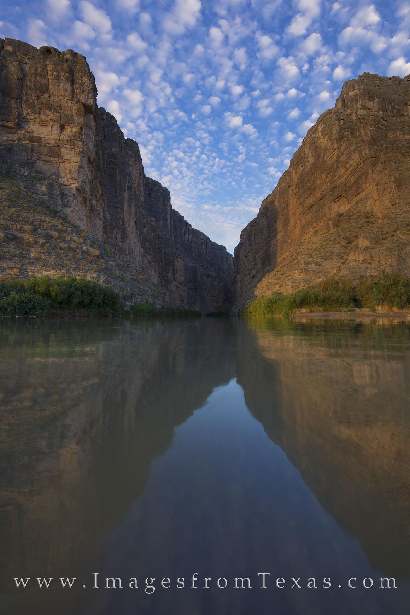 big bend national park, santa elena canyon, big bend images, texas national parks, texas canyons, morning, canyons, sunrise, rio grande, river, texas rivers, texas landscapes, photo