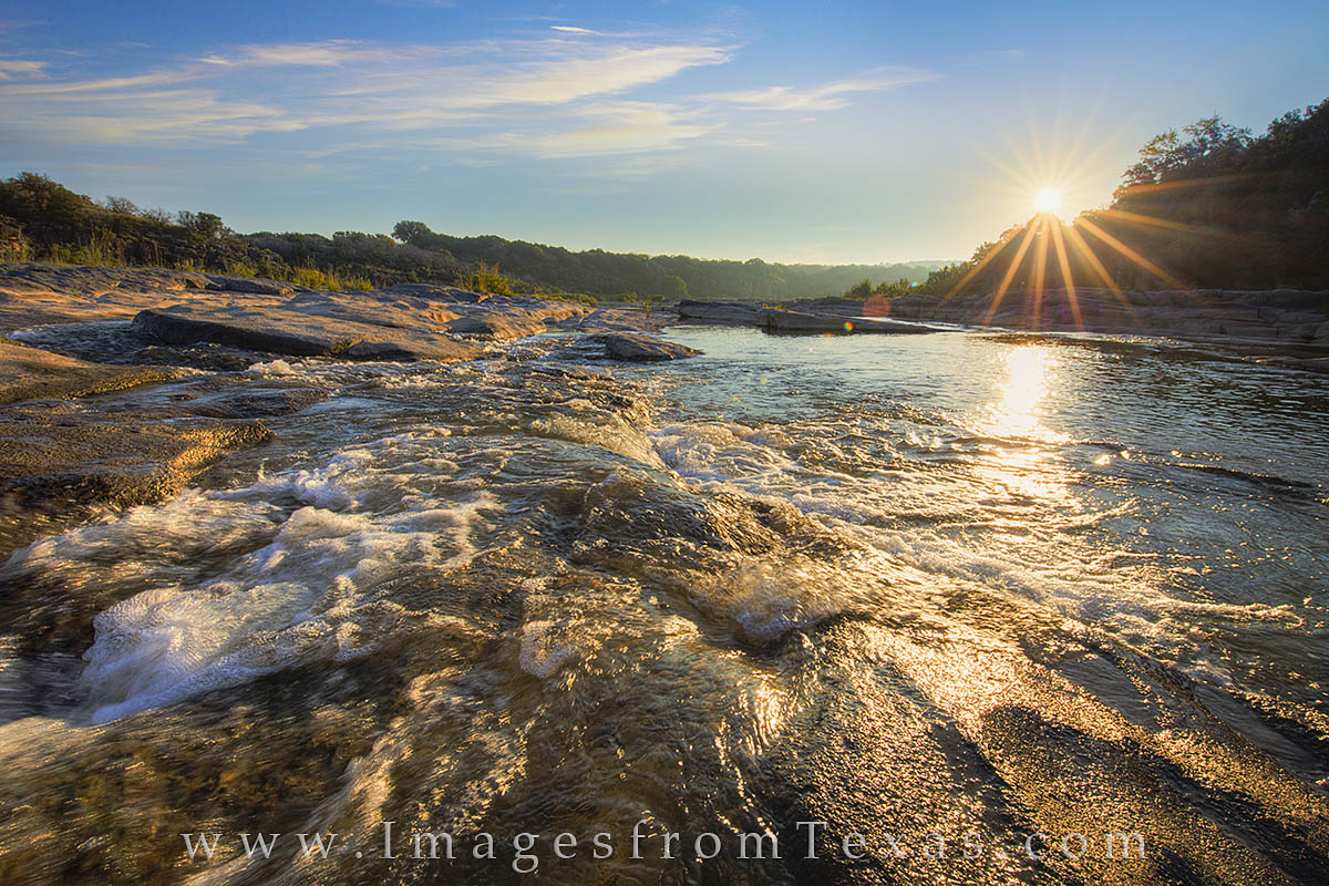 Pedernales River, Texas Hill Country, Texas sunrise, Texas landscapes, texas waterfall, pedernales falls, texas state park, photo