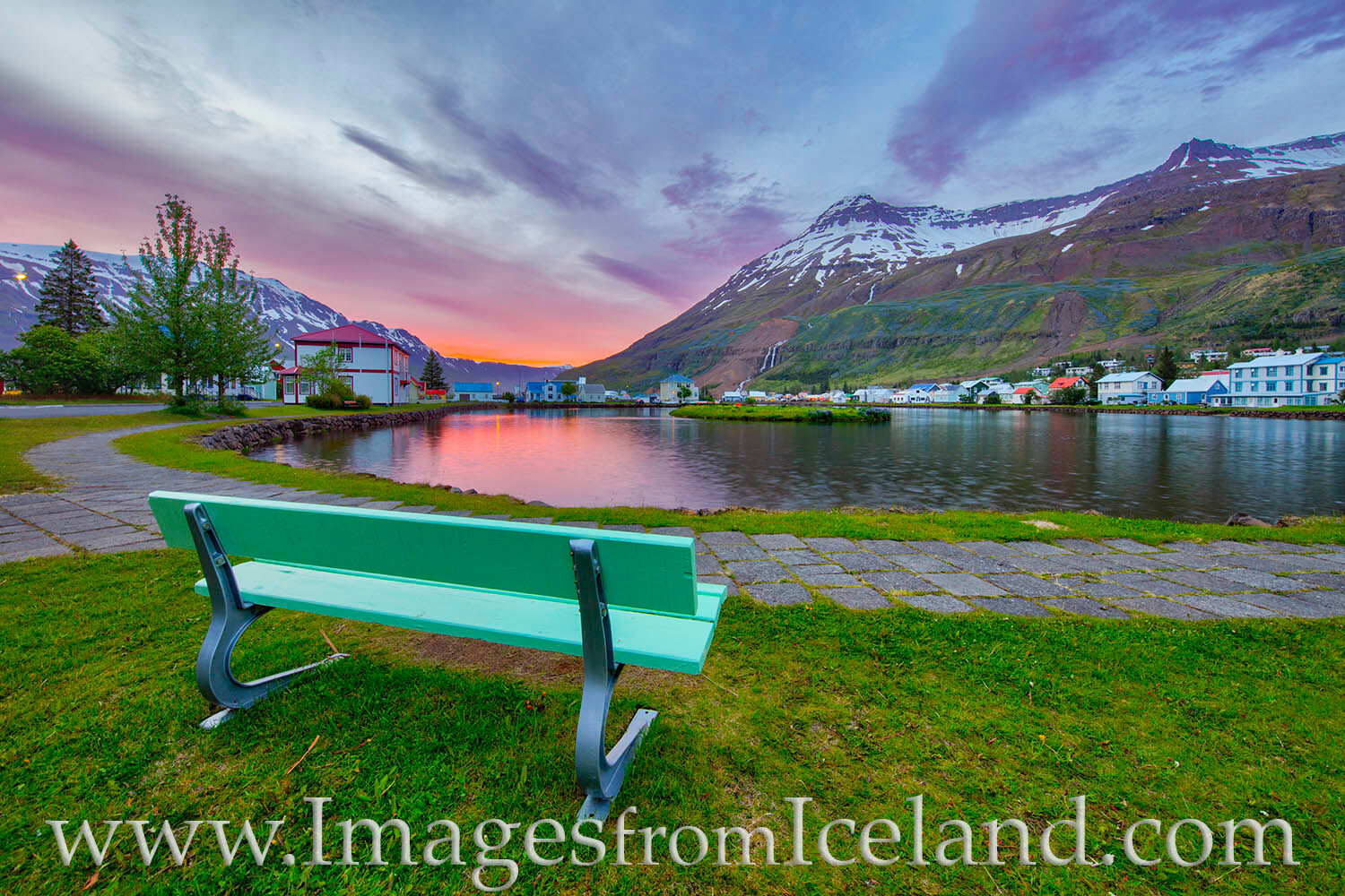 On a chilly night in east Iceland, the artsy village of Seydisfjördur rests under the midnight sun. Though it was late, just...