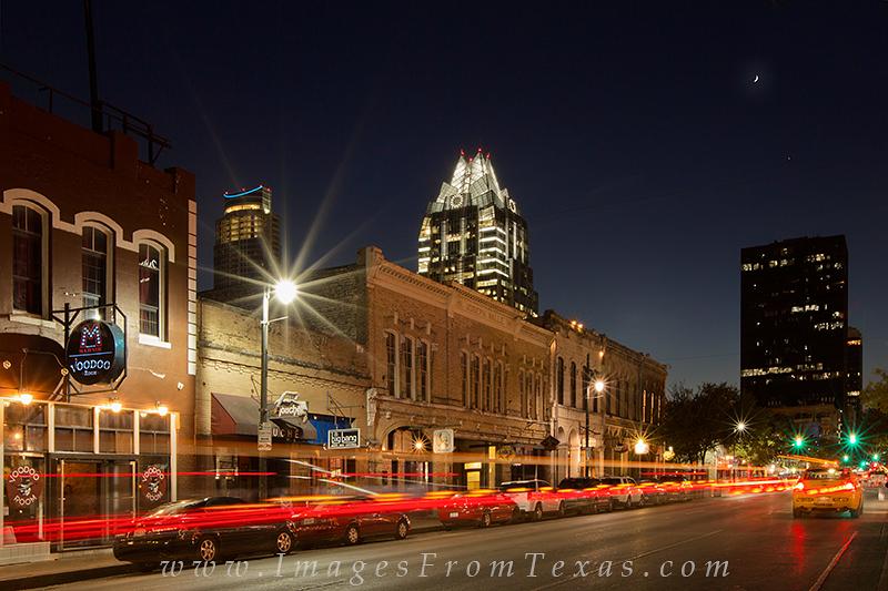 austin texas photos,Sixth Street Austin,6th Street Austin texas,austin skyline pictures,austin at night,texas cities, photo