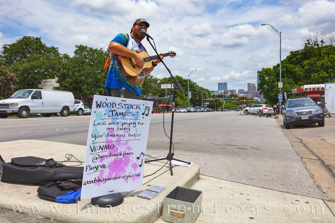 woodstock james, south congress, street performer, austin, downtown, congress ave, photo