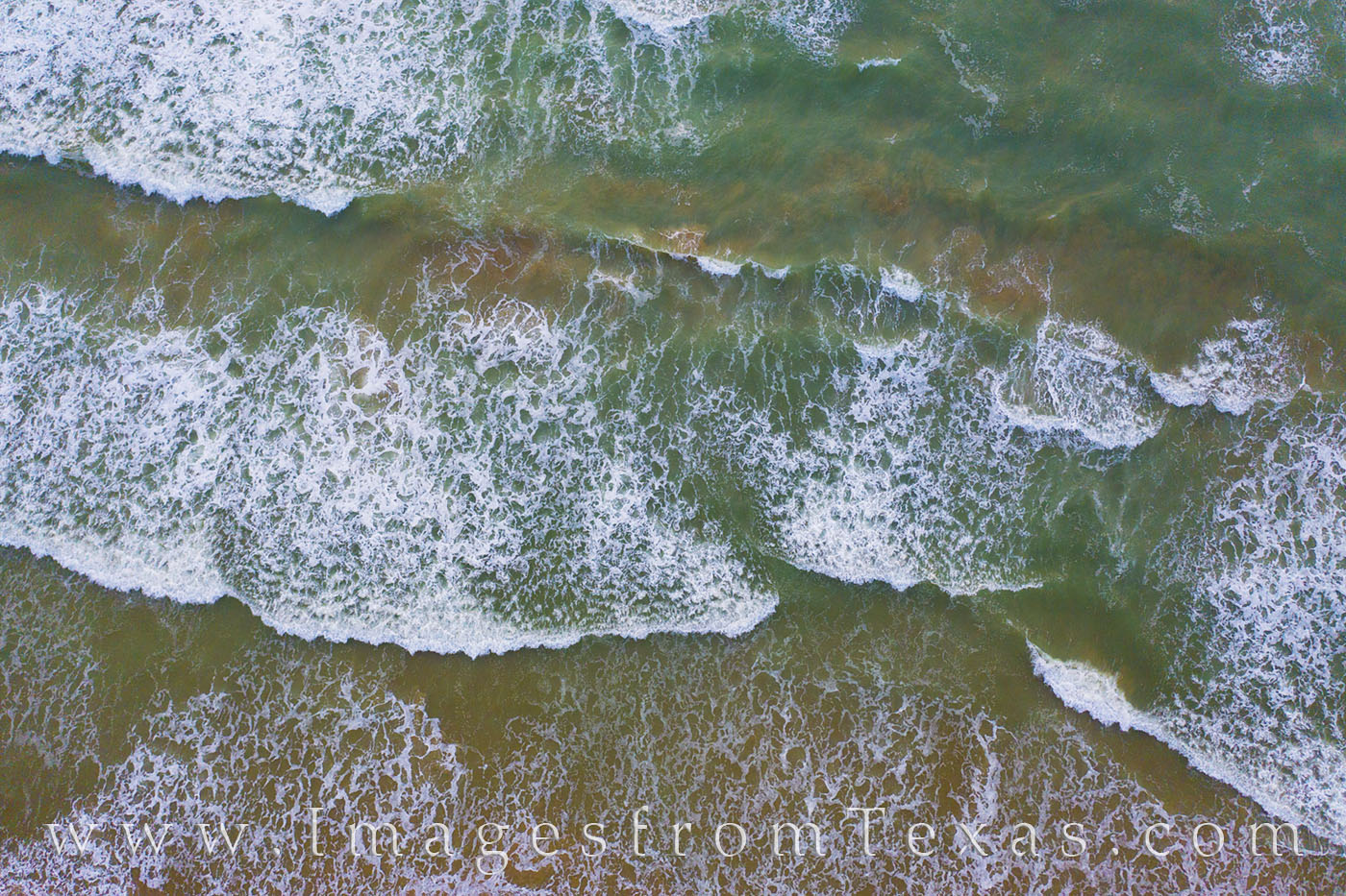south padre island, drone, aerial, waves, green, aqua, salt spray, beach, resort, texas coast, photo