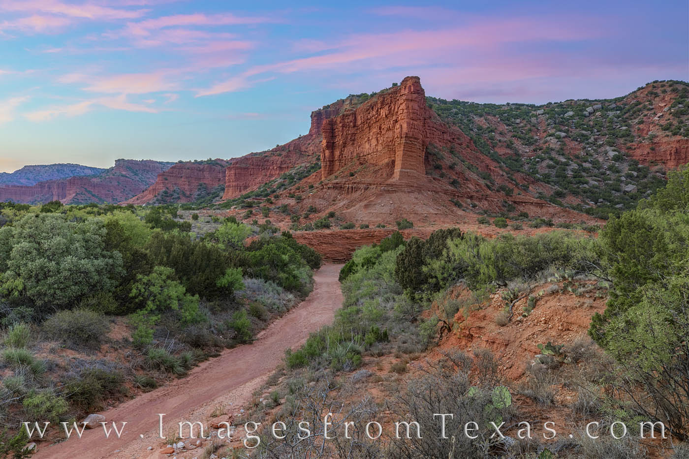 Evening settles over Caprock Canyons State Park in Autumn. This photograph was taken along the South Prong Trail on a beautiful...