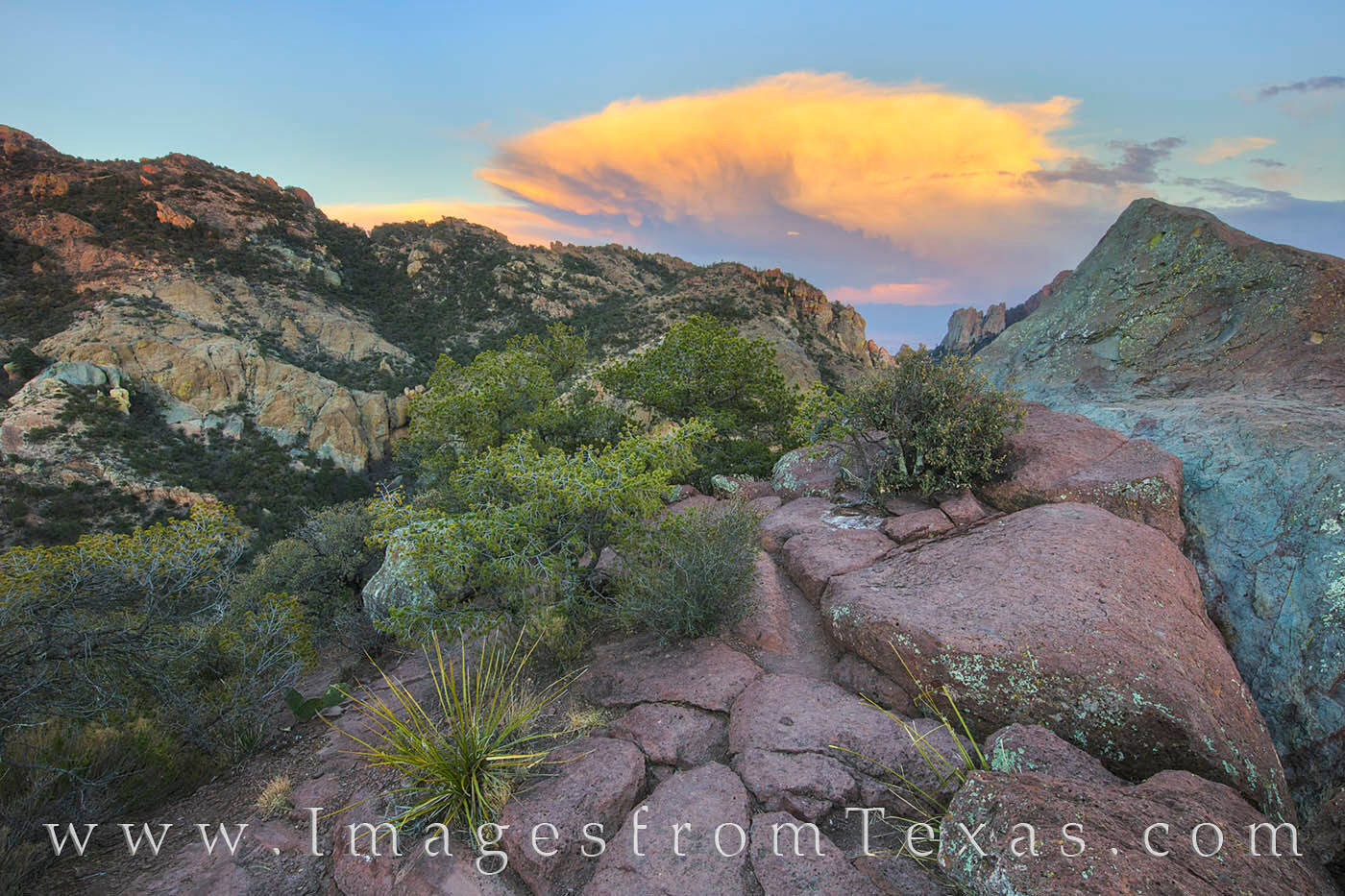 Lost Mine Trail, Big Bend National Park, Big Bend, Texas storm clouds, texas hikes, texas sunset, texas landscapes, photo
