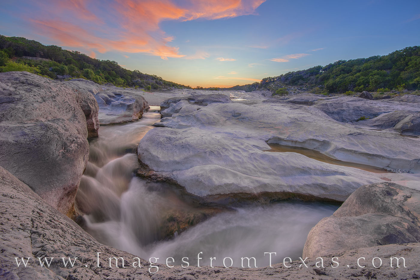 pedernales falls, pedernales river, hill country, texas hill country, sunset, evening, water, river, solitude, photo
