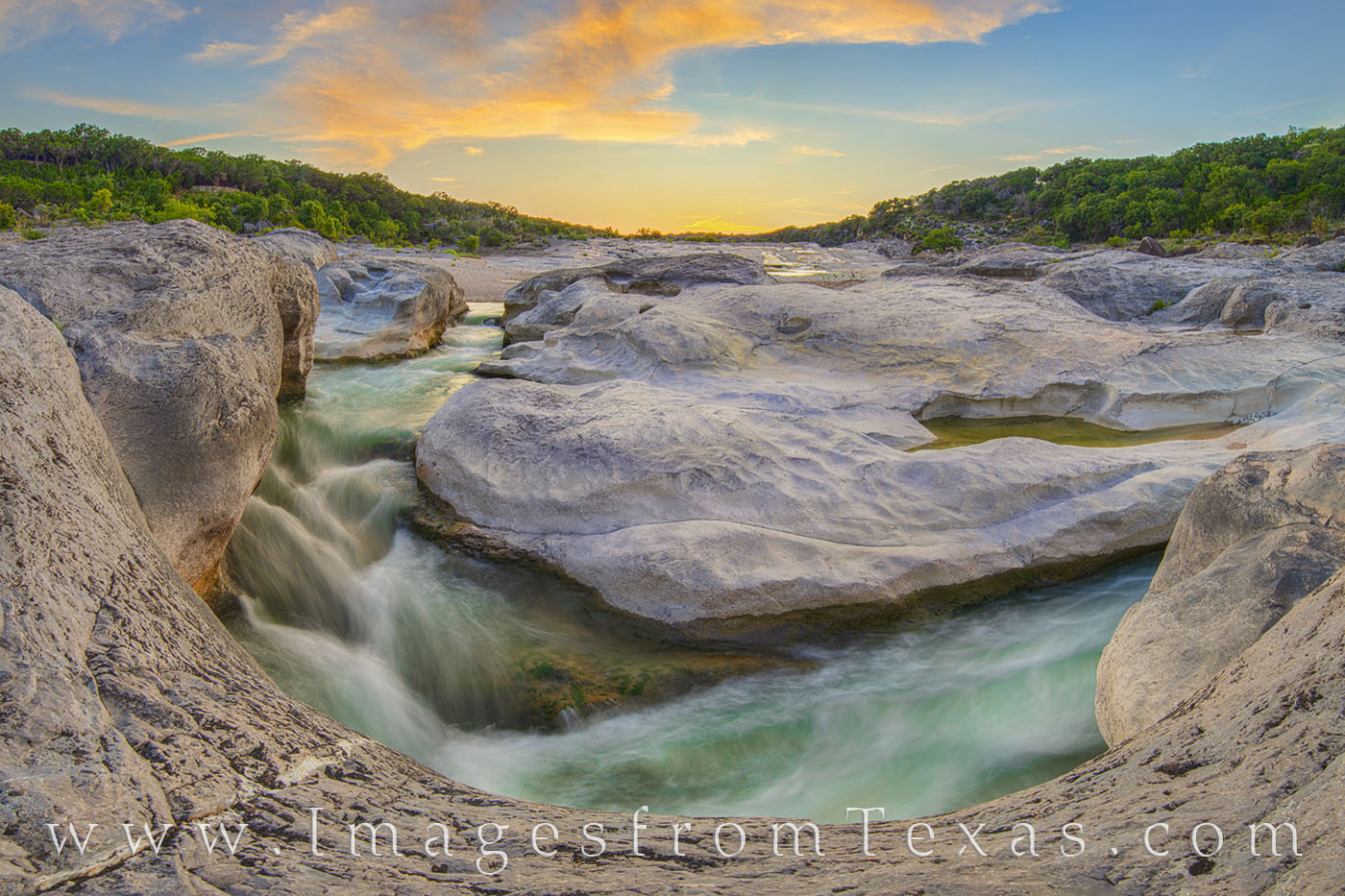 pedernales falls, pedernales river, hill country, texas hill country, sunset, evening, water, river, solitude, texas state park, summer, photo