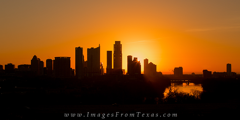 austin skyline,zilker clubhouse,austonian,austin sunrise, photo