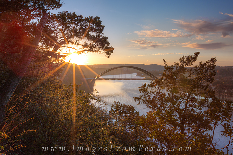 pennybacker bridge,austin texas sunrise, photo