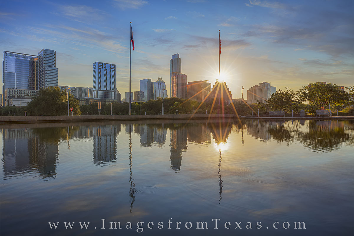 austin skyline, austin photos, downtown austin, austin skyline prints, long center, austin sunrise, austin high rises, zilker park, lady bird lake, photo