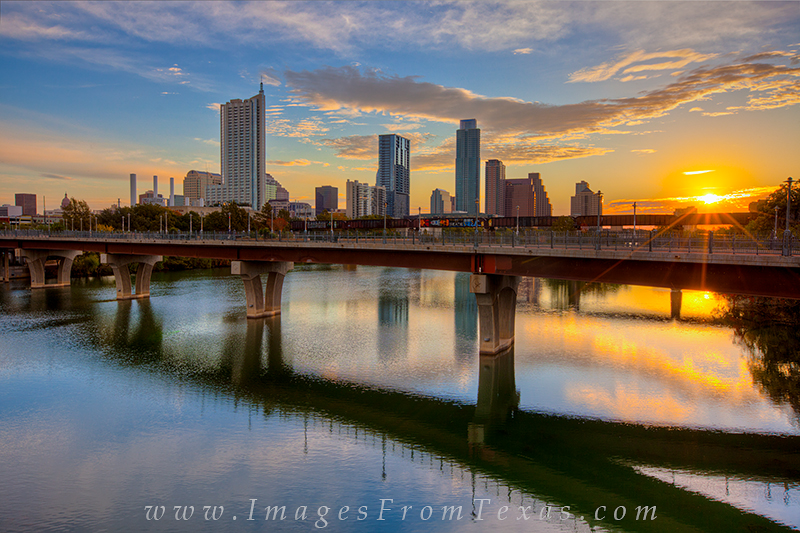 austin cityscapes pictures,austin from lamar bridge,sunrise over austin,austin texas photos, photo