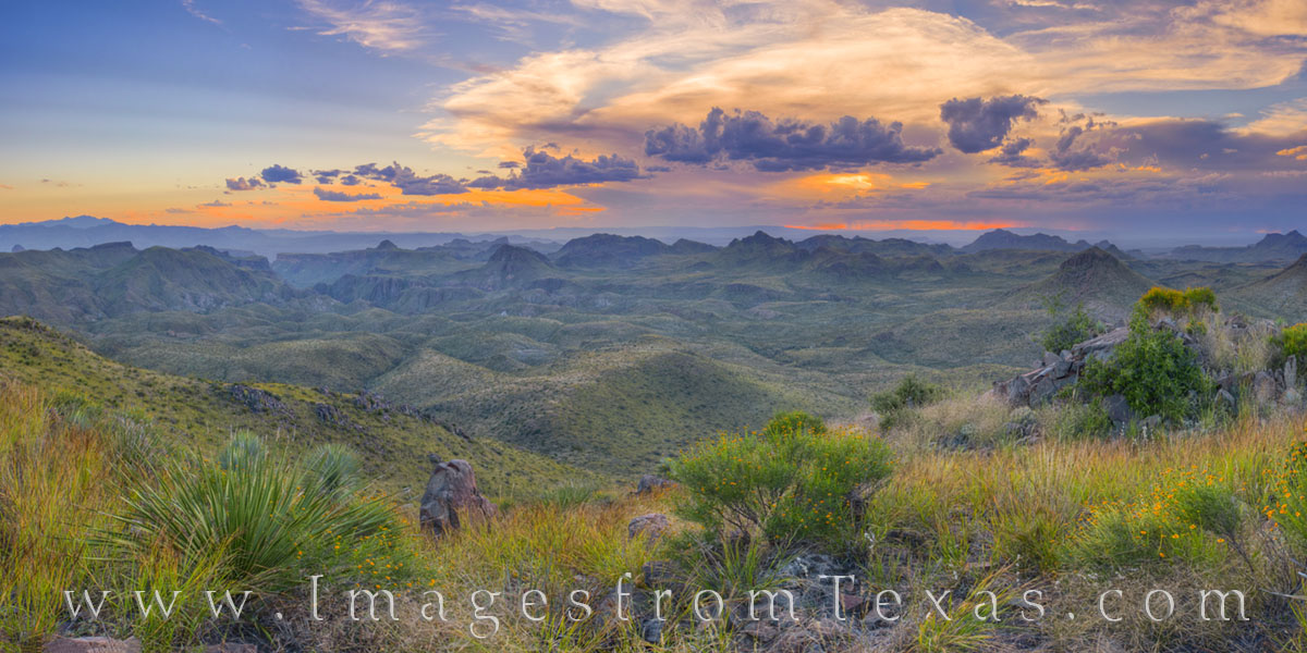 oso mountain, big bend ranch, state park, oso peak, panorama, evening, hiking, exploring, oso loop, west texas, photo