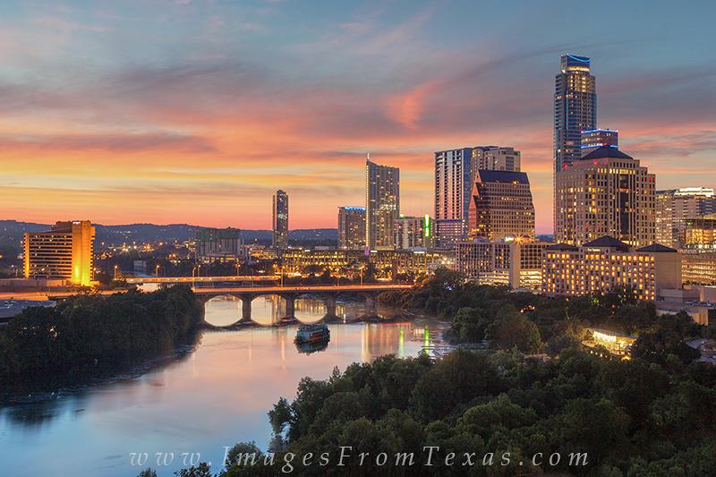 austin evening,lady bird lake,austin skyline,congress avenue,downtown austin,austin texas, photo
