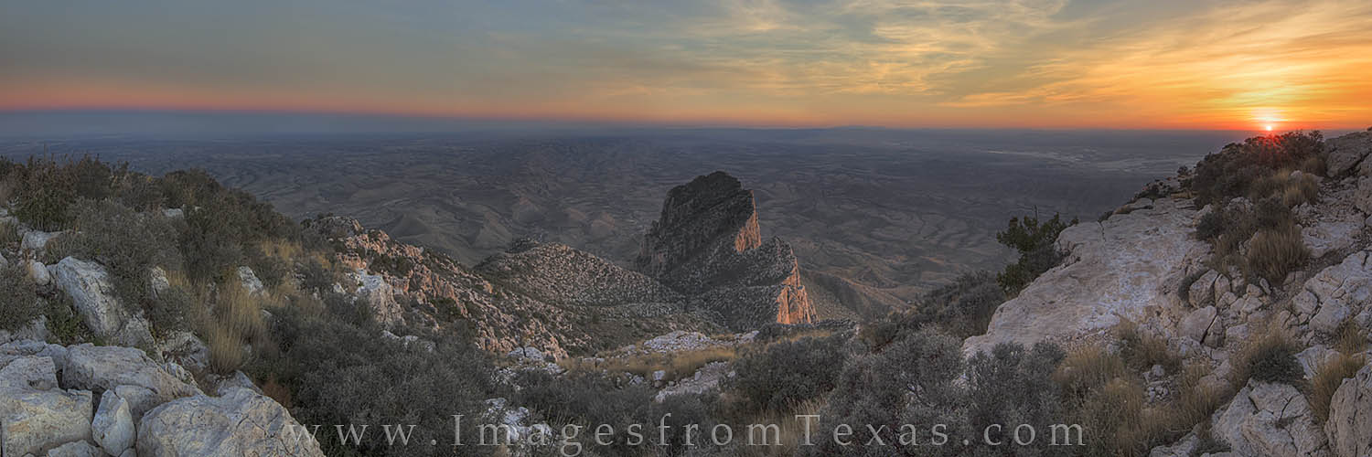 guadalupe mountians, panorama, el capitan, texas sunset, gadalupe peak, chihuahuan desert, deleware sea, guadalupe mountains national park, texas mountains, texas landscape, texas pano, photo