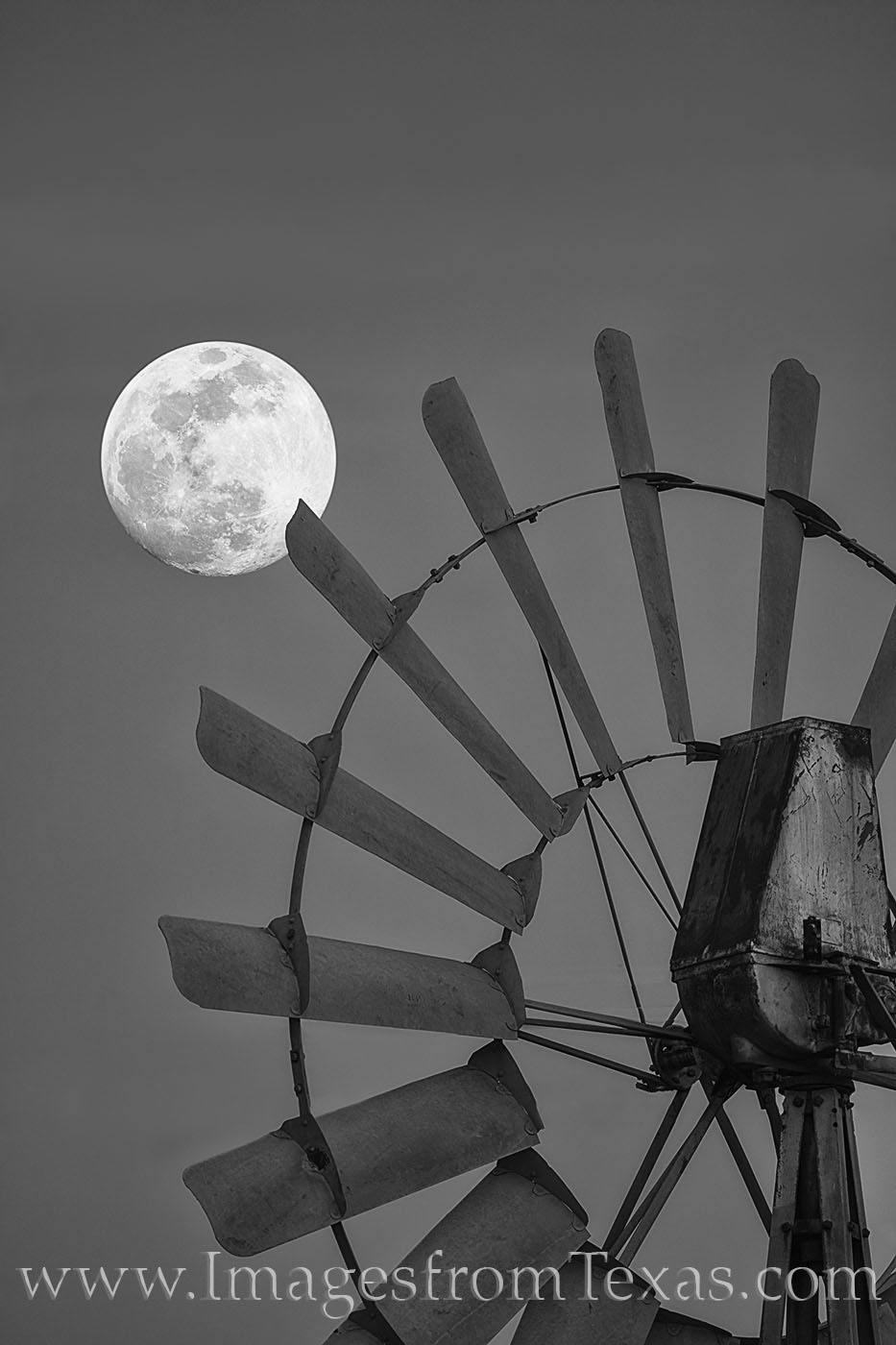 supermoon, windmill, hill country, moonrise, evening, full moon, texas, photo