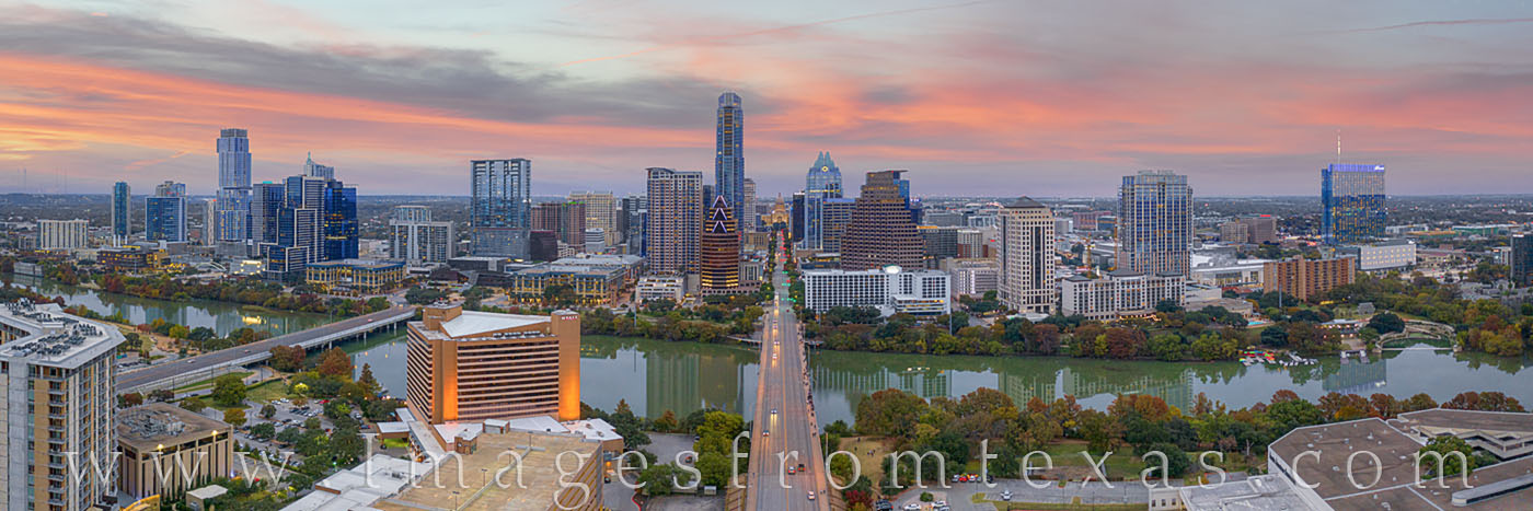 austin skyline, aerial photograph, austin, downtown, skyline, texas capitol, frost tower, austonian, jenga tower, congress avenue, ladybird lake, town lake, photo