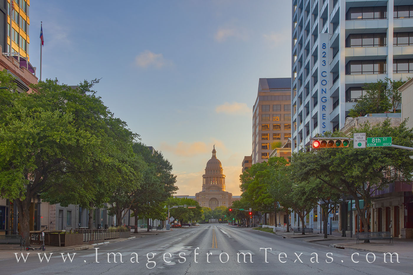 texas capitol, state capitol, morning, sunrise, congress avenue, quiet, austin, downtown, photo