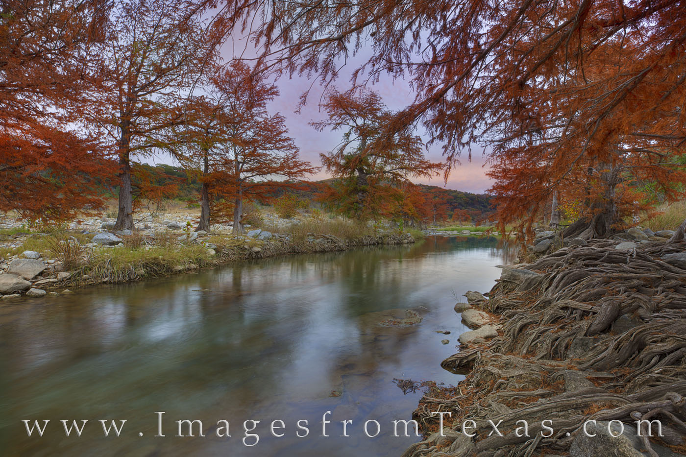 texas hill country, pedernales river, fall colors, autumn colors, cypress, texas fall colors, texas autumn, pedernales falls, texas state parks, photo
