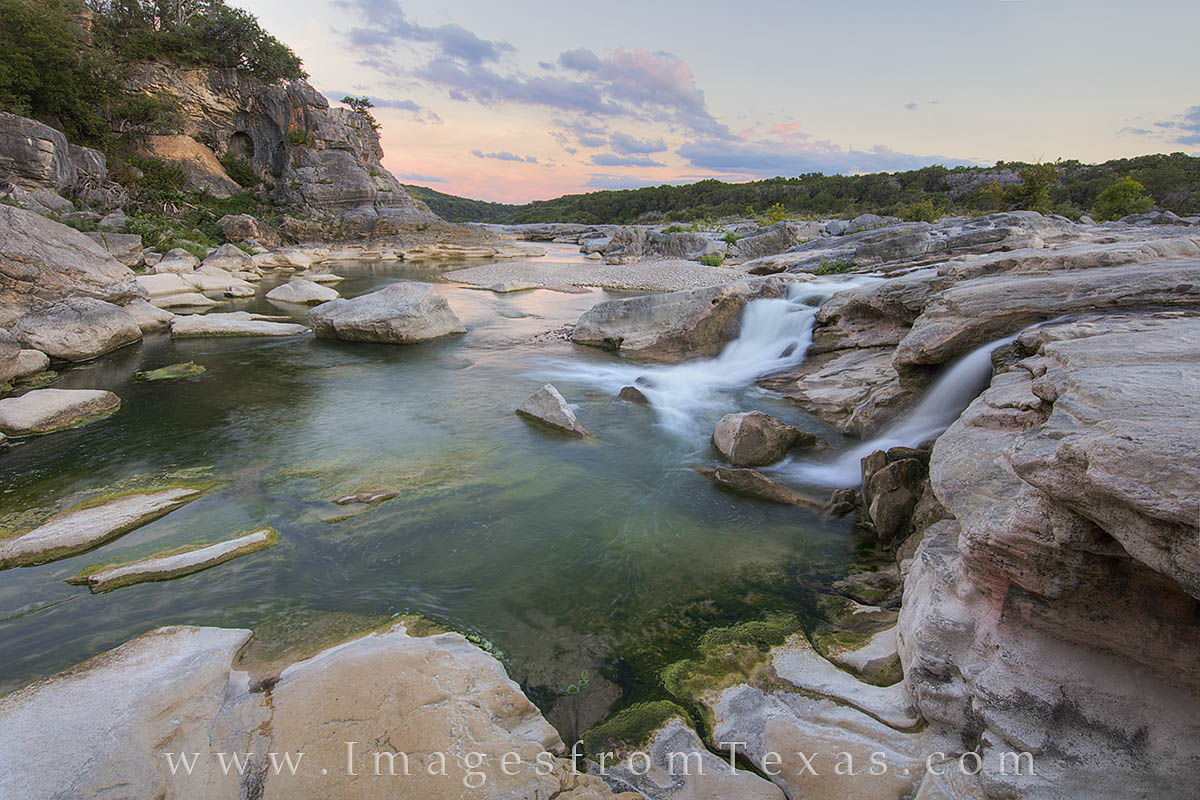 texas hill country, texas sunset, texas landscape, pedernales falls, pedernales falls state park, texas waterfall, texas state parks, photo