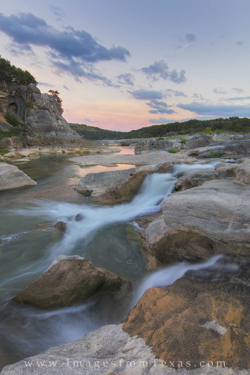 texas hill country, texas hill country pictures, pedernales river, pedernales falls, texas state parks, texas waterfalls, texas landscapes, texas sunset, photo