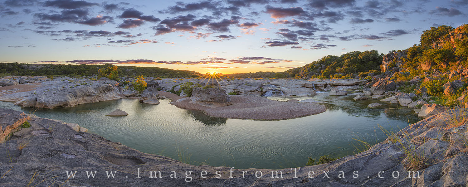 pedernales falls, pedernales river, texas hill country, sunset, september, pedernales, hill country images, pedernales images, river, panorama, photo