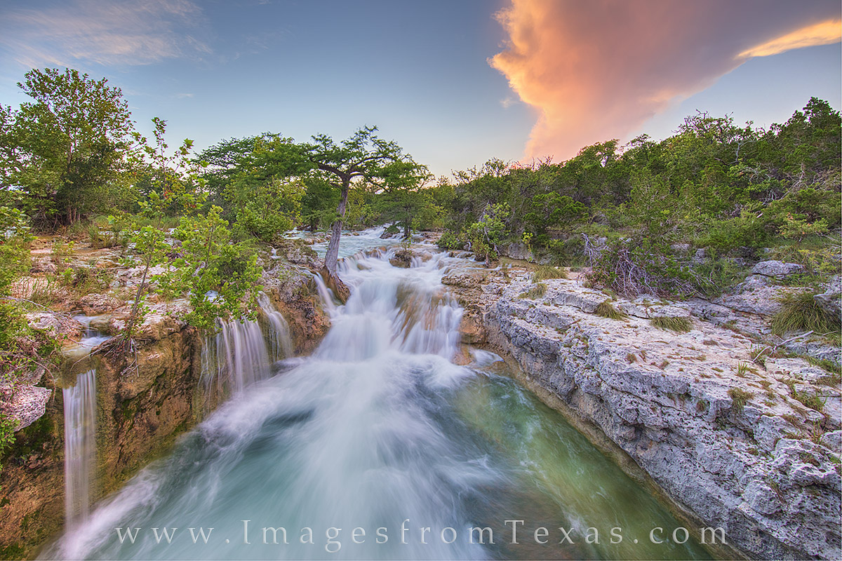 texas hill country prints, texas hill country pictures, texas waterfalls, waterfalls in texas, texas sunset, texas landscapes, photo