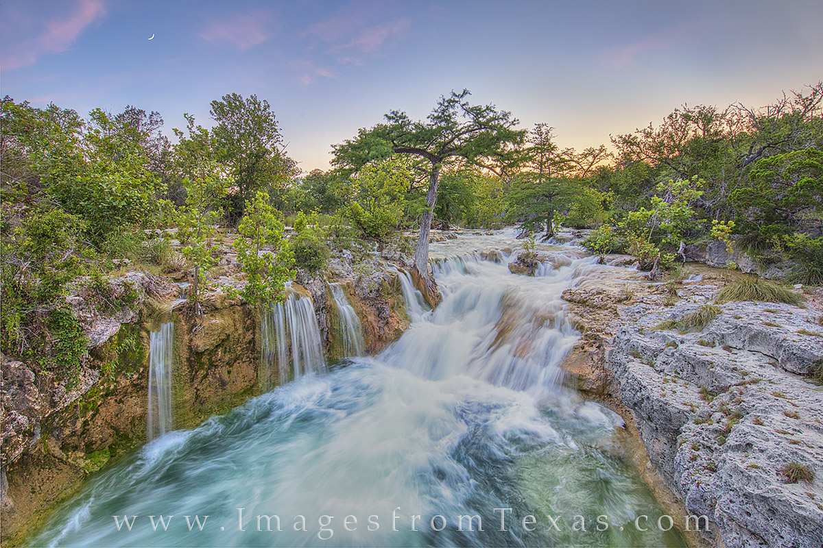 texas waterfall, texas waterfall pictures, texas waterfall prints, texas hill country, hill country prints, hill country photos, hill country waterfall, hill country sunset, photo