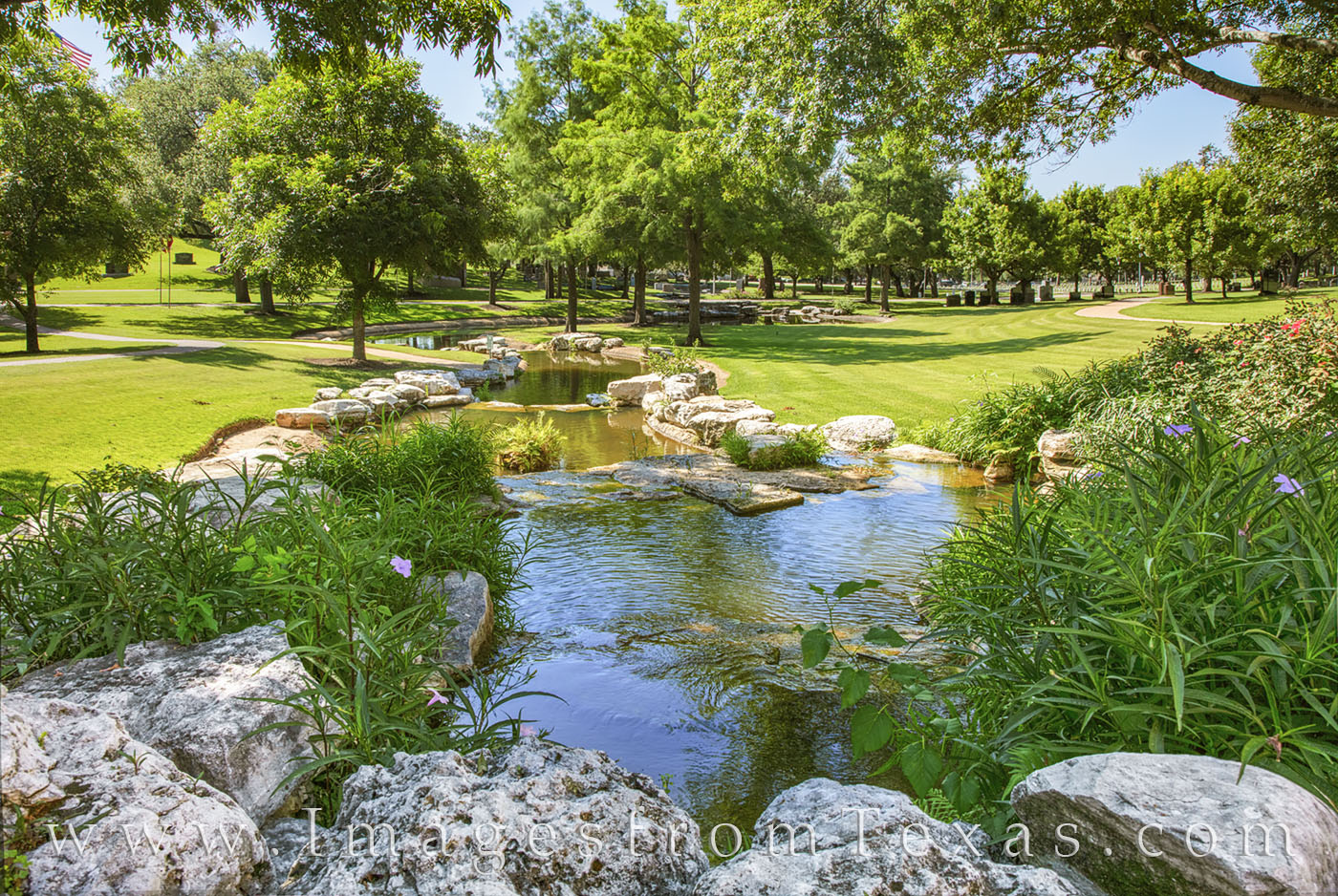 texas state cemetery, stream, east austin, peaceful, iconic, history, photo