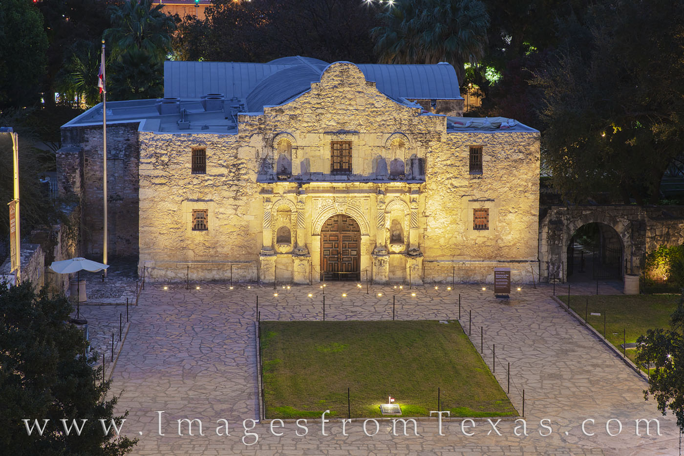 alamo, night, memorial, mission, San Antonio, downtown, photo