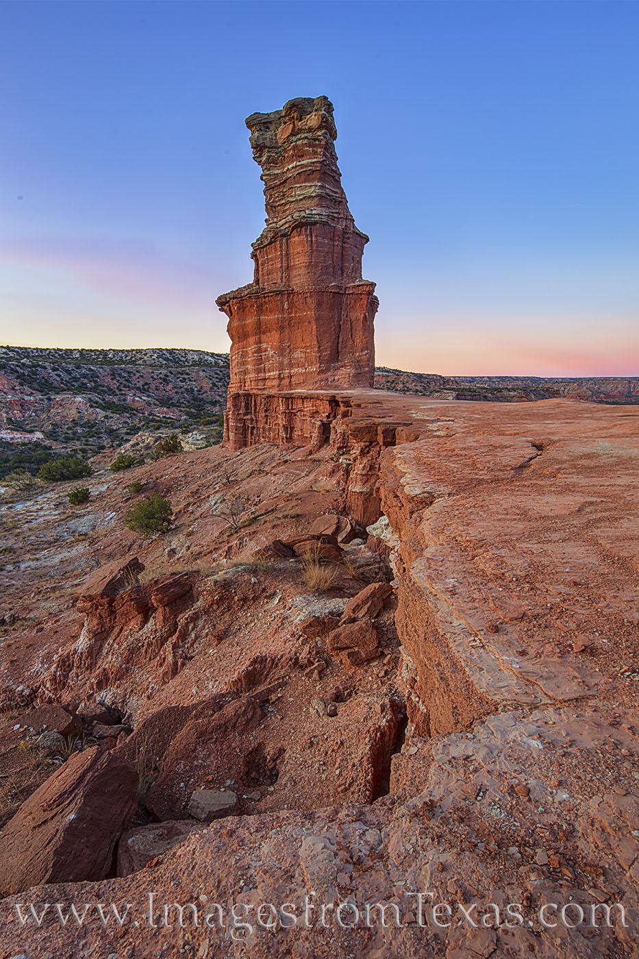 the Lighthouse, palo duro canyon, lighthouse trail, sunset, hike, explore, panhandle, canyon, photo