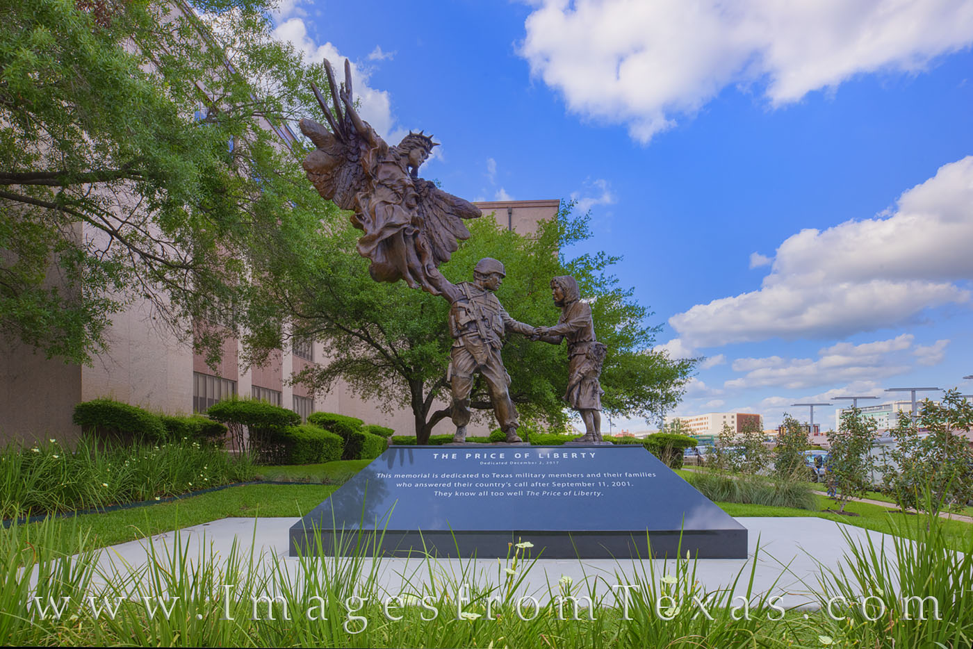 Erected in 2018 by the Texas War Memorial Foundation, the Price of Liberty Memorial recognizes those who served after the September...