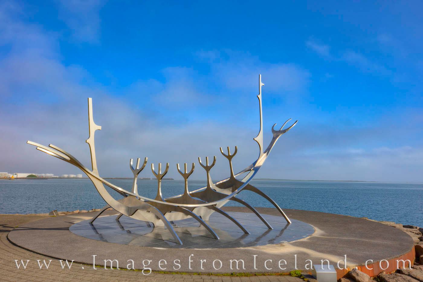 Sculpted by Jón Gunnar Árnason in 1990, the Sun Voyager was intended to convey hope for the future and appear as a dream vessel...