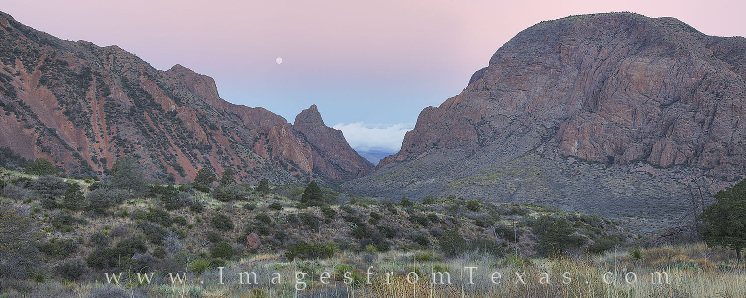 the window, big bend, panorama, hiking, moon, Texas hikes, texas landscapes, icons, pano, photo
